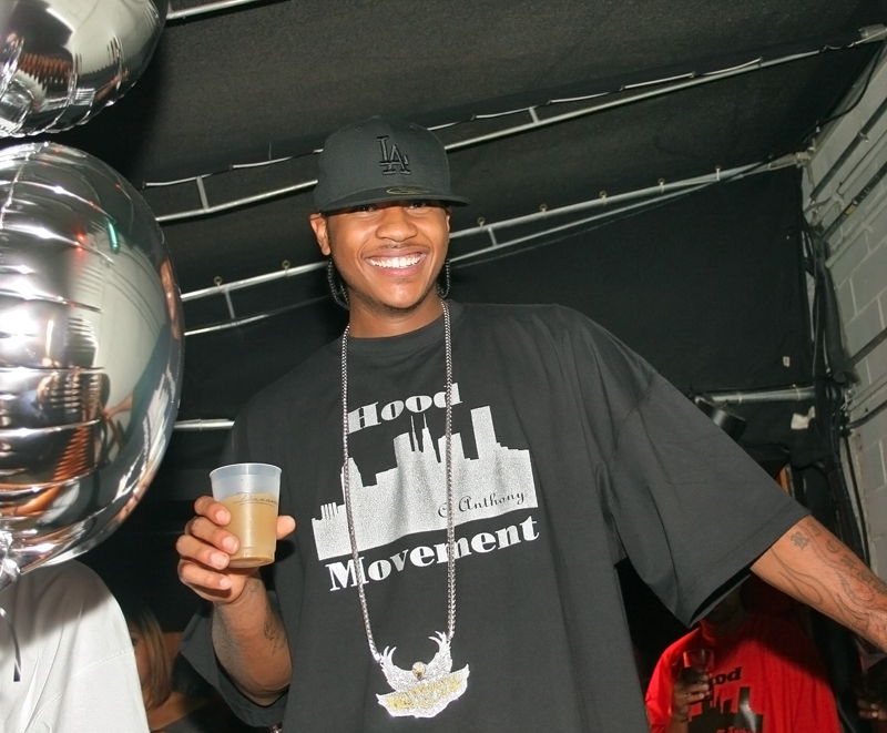 carmelo anthony partying 800