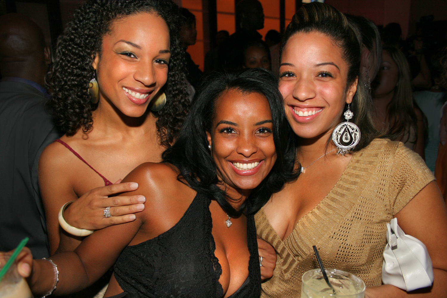 sexy black chicks drinking event