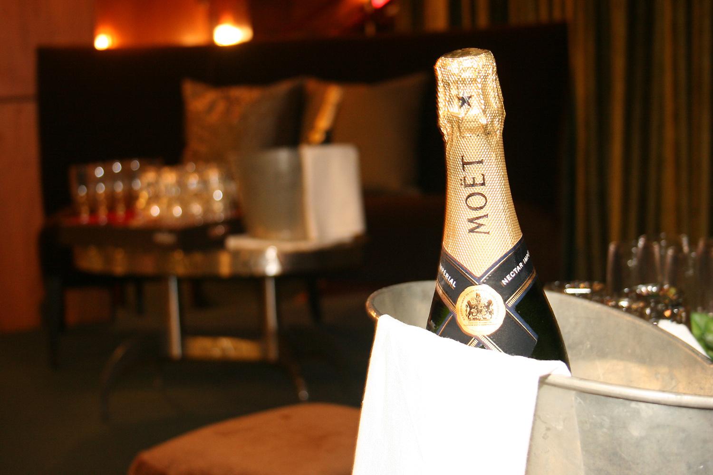 Moet champange bucket hospitality photography 1000x