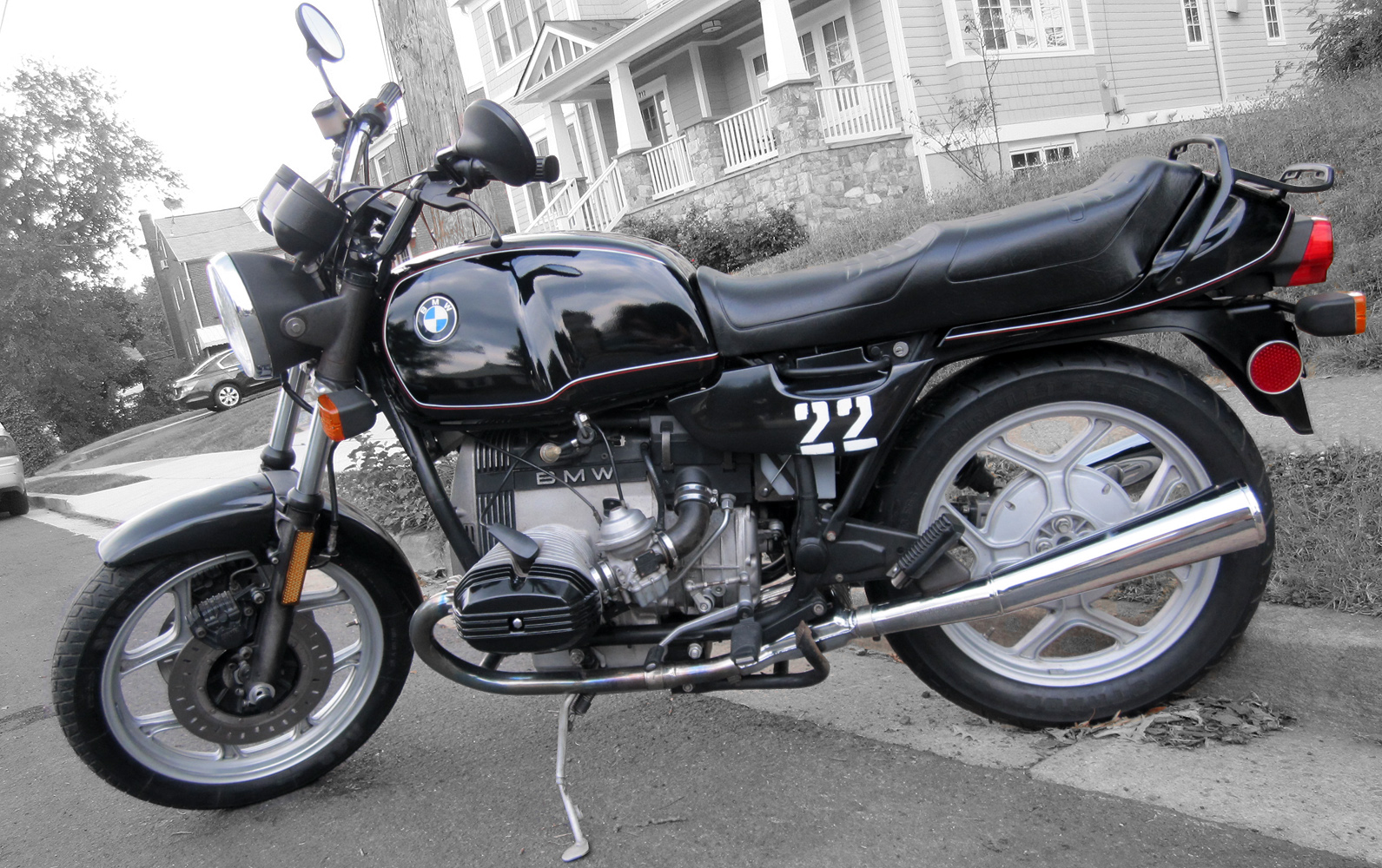 1986 bmw r80 black and white 1000